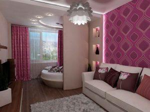 Достойное вашего внимание разделение на зоны обычной комнаты 18 кв