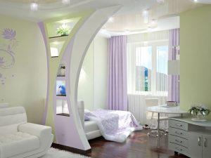 Дизайн небольшой зоны для работы в спальни 18 кв. м.