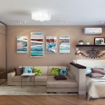 Дизайн гостиной спальни 18 квадратов, фото лучших вариантов