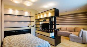 Распределение осветительных приборов в дизайне помещении 18 кважратов