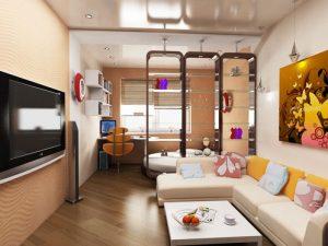 Спальня и гостиная и кабинет