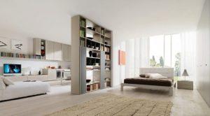 Практичная перегородка в дизайне небольшого помещения