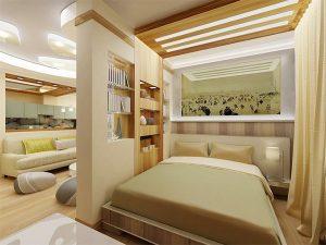 Зонирование маленького помещения для интерьера частного дома