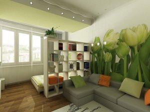 Использование фотообоев в интерьере небольшой спальне 18 кваджратов