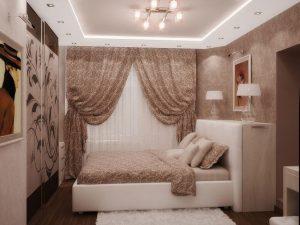 Как оформить спальню в 9 кв м