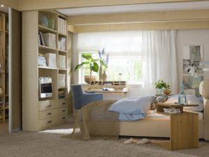 Как разместить мебель в небольшой спальне 9 кв м