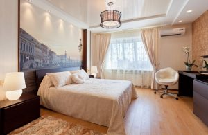 Натяжные потолки для спальни - романтично, стильно и практично