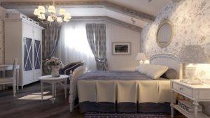 Нежность прованса в оформлении спальни