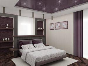 Оформление спальни в серебристо холодной цветовой гамме