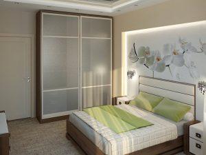 Планировка спальни, кровать является центральным элементом спальни