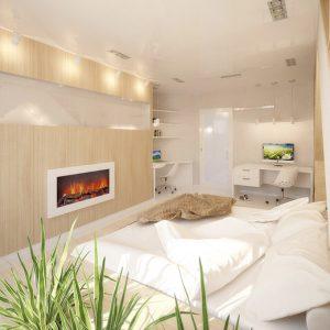 Современный эко стиль для маленького помещения