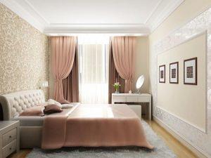 Кремовая спальня 9 кв м фото