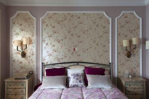 Украшение стен в спальне