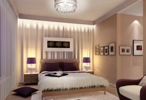 Бежевое оформление спальни 12 кв м