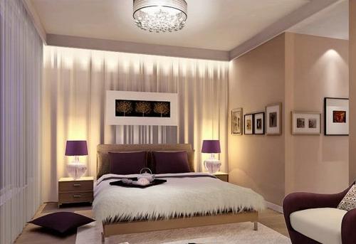 Натяжной потолок в спальне дизайн 12 кв.м