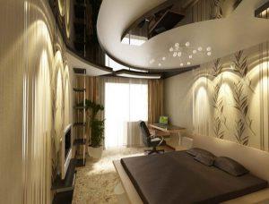 Дизайн узкой спальни 12 кв м