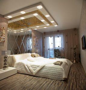 Линолеум на полу в спальне