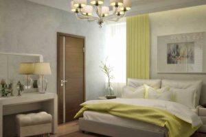 Данная комната 12 кв. м. со светлой гаммой становится холодной и скучноватой