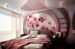 Нежный розовый цвет в интерьере помещения