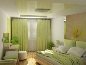 спальня 12 кв в зеленых тонах