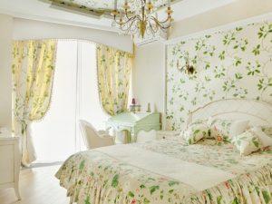 Цветочная тематика в оформлении спальни