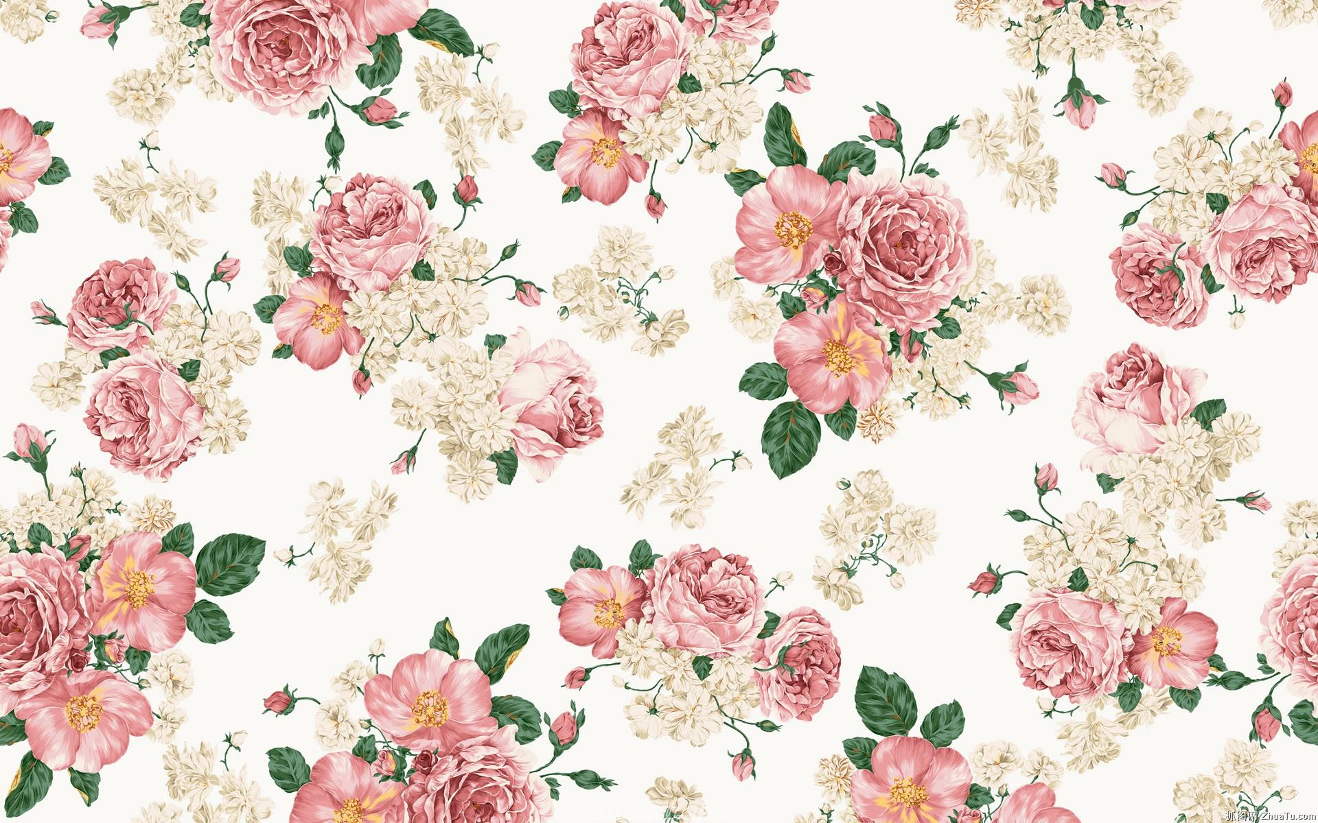 Бумажные цветочные обои