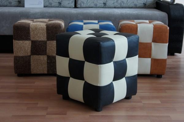 Комбинированные цвета в пуфике