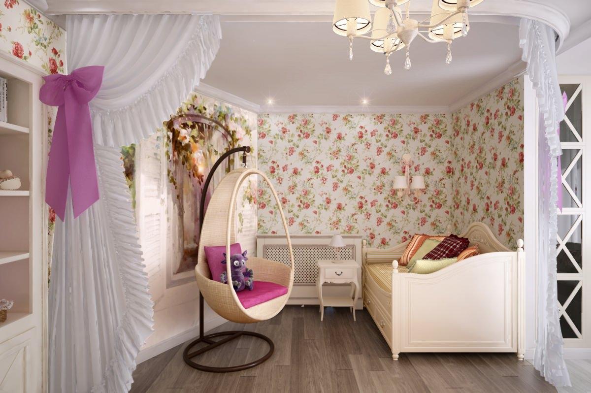 Спальня с стенами в ярких тонах