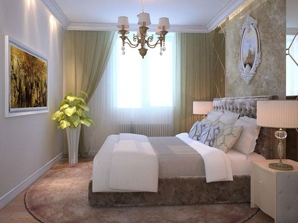 Занавески для спальни в светлых тонах