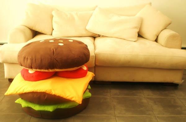 Мебель в виде гамбургера