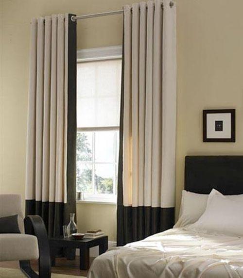 Прямые шторы в спальню