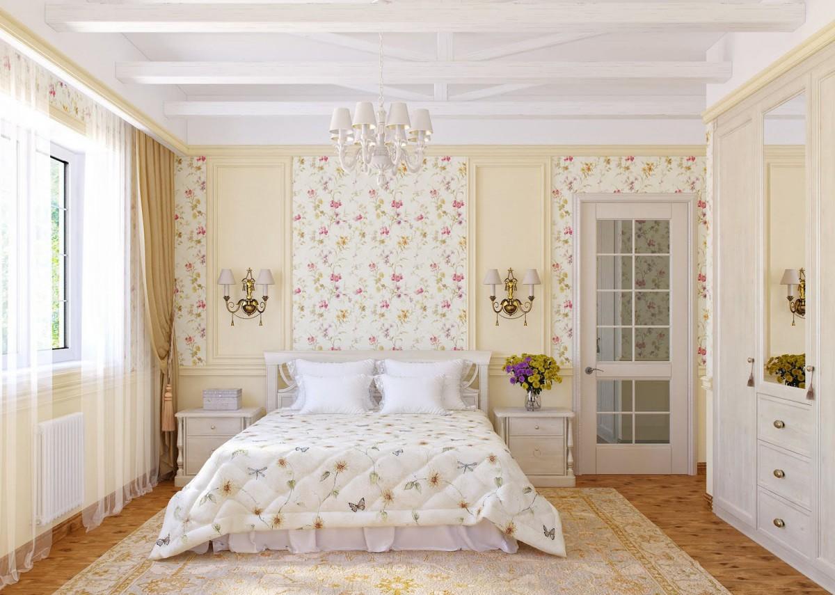 Спальня в кремовой палитре