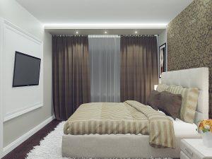 Строгий интерьер в спальне