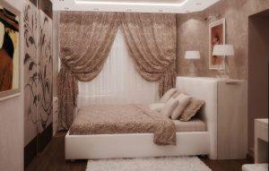 Просторная спальня в хрущевке