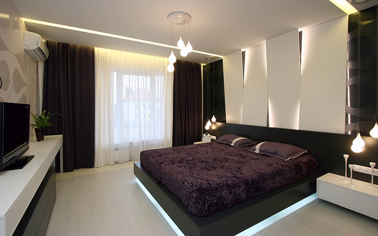 Элементы освещения в спальне