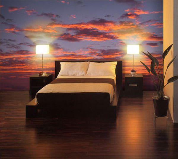 Спальня с закатом