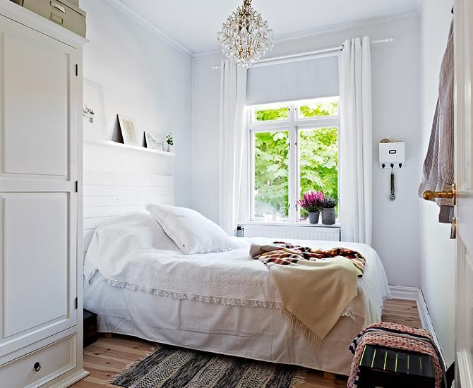 Поперечное расположение кровати
