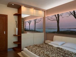Шкаф купе для небольшой спальни