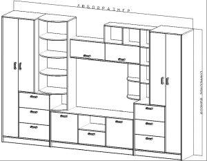 Схема шкафа купе