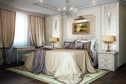 Освещение в спальне классического стиля