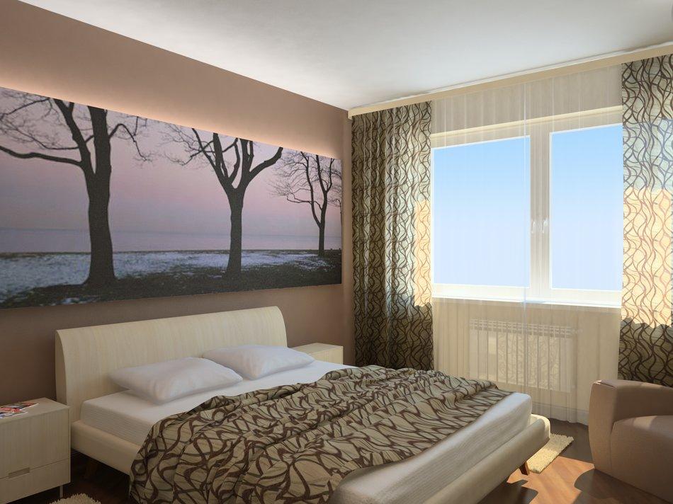 Расположение кровати и радиатора