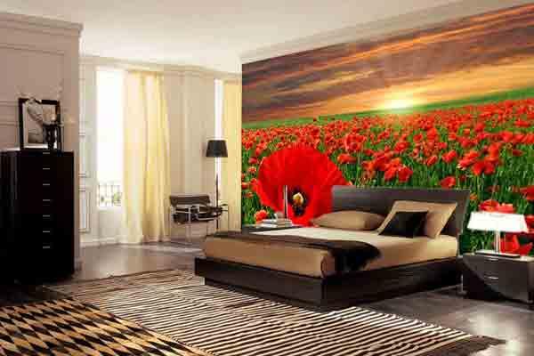 Спальня с маковым полем