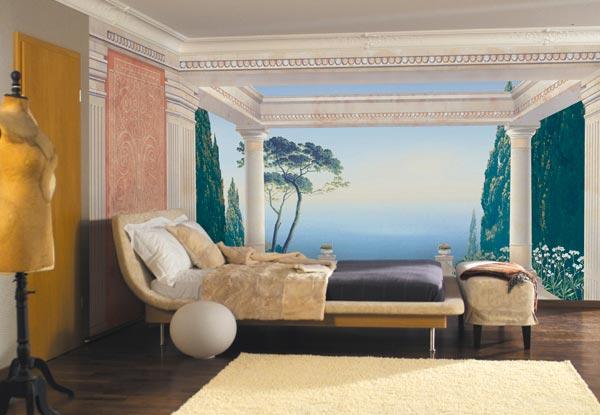 Фотообои расширяющие пространство спальни