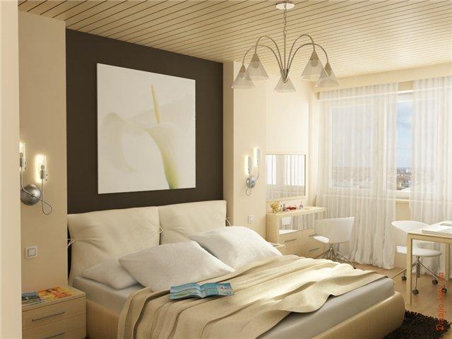 Кровать подальше от окна
