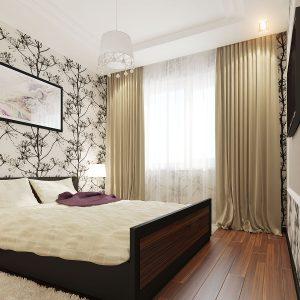 Спальня с декоративной зоной изголовья