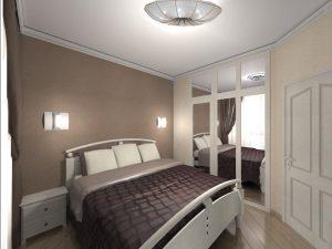 Спальня с темными акцентами