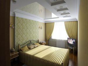 Спальня с акцентом на стену изголовья