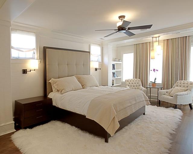 Спальня с меховым ковром