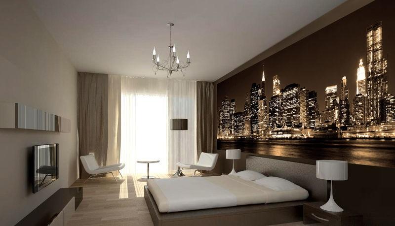Дизайн комнат в стиле ночной город