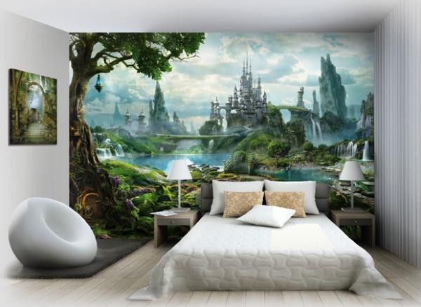 Фотообои со сказочным замком